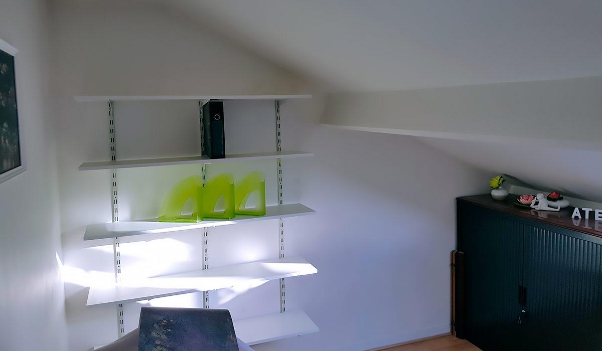 aménagement d'un bureau / atelier - nympheas - sensidéco