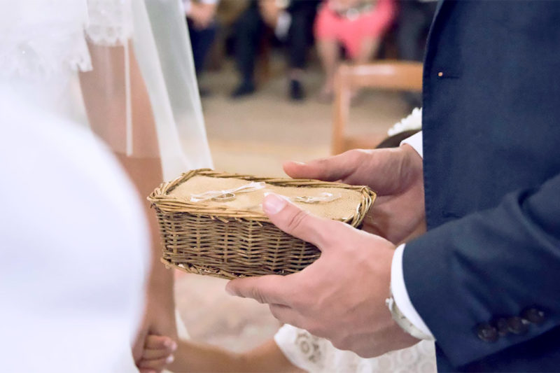 mariage et décoration aux matériaux naturels